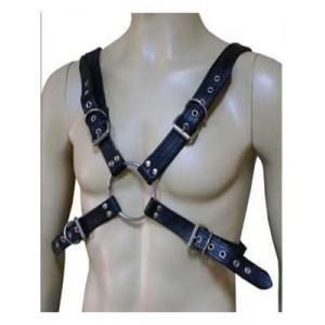 Leather Hand bondage necklace