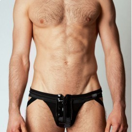 Leather Jockstrap Zip